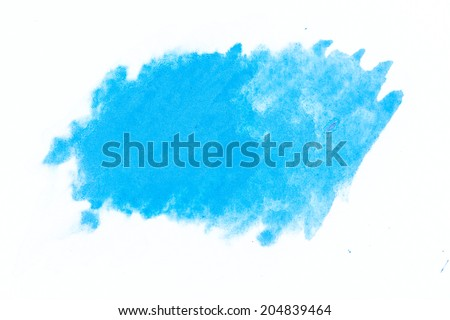 Abstract art watercolor splash watercolor drop on over white background - stock photo