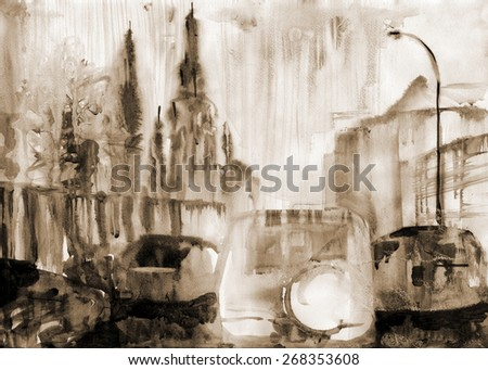 Abstract artistic Background - stock photo