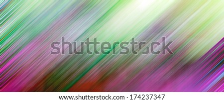 Abstract artistic illustration texture with vibrant light red, blue, green, orange, yellow, violet, lilac natural cover, perspective futuristic tranquility background in motion blur shift tilt lines