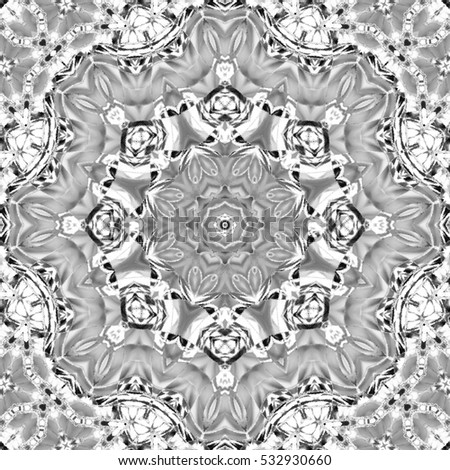 Abstract artistic melting black and white pattern for design and background