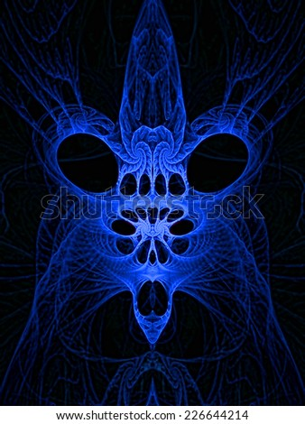 Abstract artistic scary creature - stock photo