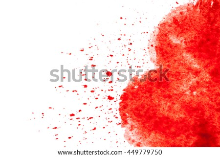 Abstract artistic watercolor splash. Close up watercolor blobs.  - stock photo