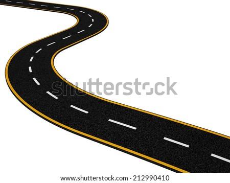 Abstract Asphalt Road on White Background with Noise Texture - stock photo