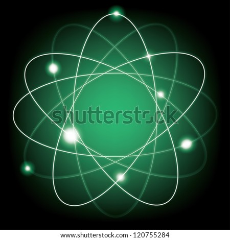 abstract atomic model. (vector version also available in my gallery) - stock photo