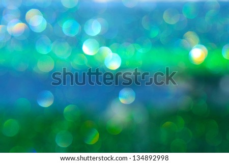abstract attractive boke? blue and green background - stock photo