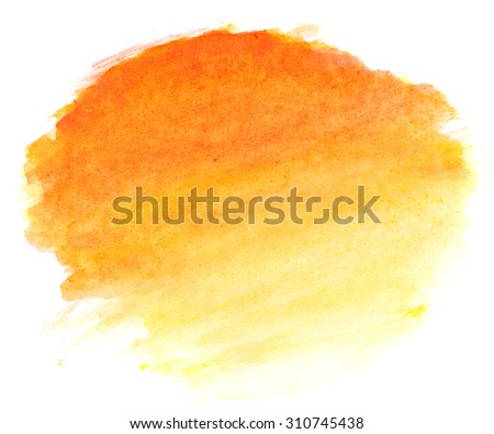 Abstract autumn background in watercolor style