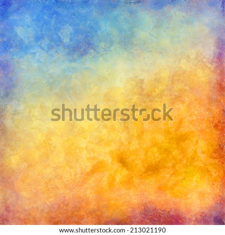 Abstract autumn digital oil painting background - stock photo