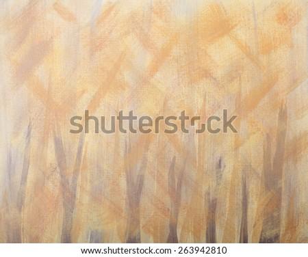 Abstract Autumn Illustration, orange, yellow, gray - stock photo