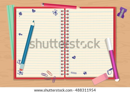 Abstract back to school poster or flyer background with empty space