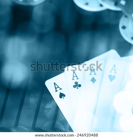 Abstract backgound, poker game concept - stock photo