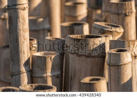 Abstract Background, a lot of bamboos. Selective Focus. Suitable for use as wallpapers. - stock photo