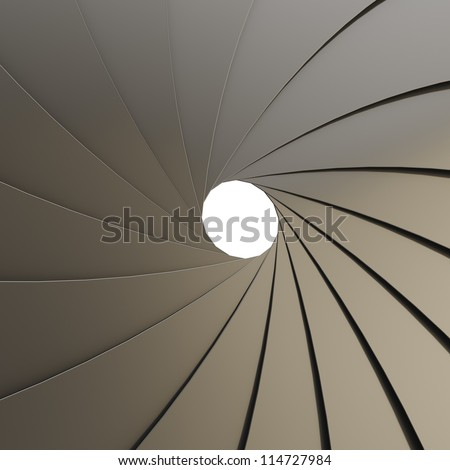 Metal Aperture Small Hole Background Stock Photo 64830370