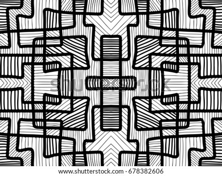 Abstract Background Black And White Texture Geometric Shapes Wallpaper Tribal For Fabric