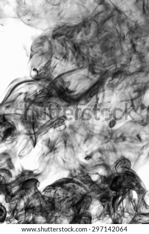 Abstract background black smoke pollution.