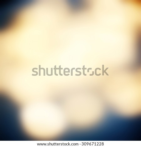 Abstract background blue and gold bokeh circles for Christmas background with Soft lights. - stock photo