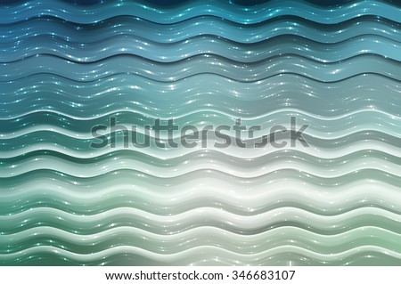 Abstract background. blue background with waves and stars