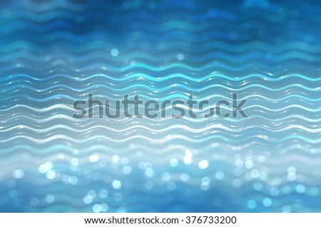 Abstract background. blue background with waves and stars - stock photo