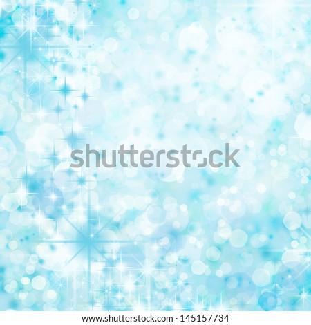 abstract background blue bokeh - stock photo