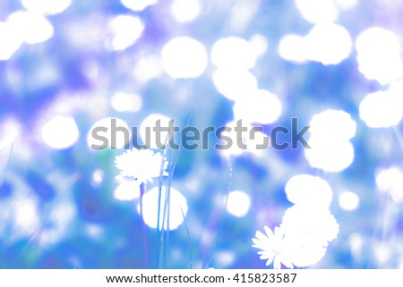 abstract background blue bokeh circles. Beautiful background with particles.