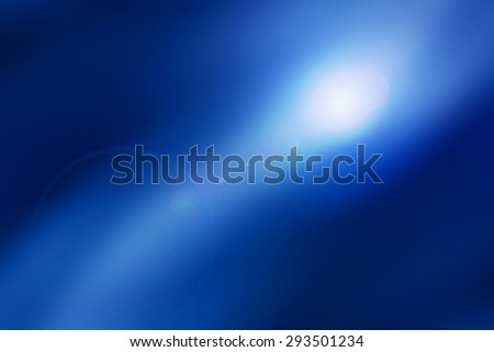 abstract background, blue light effect with len flare - stock photo