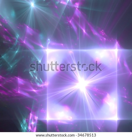 Abstract background. Blue - purple palette. Raster fractal graphics.