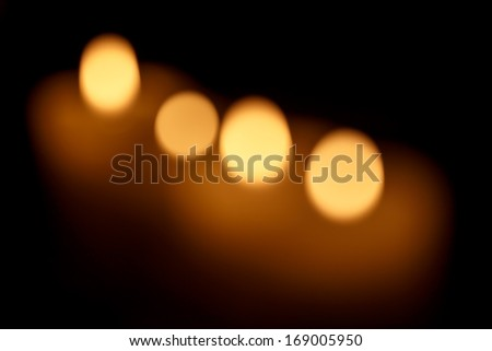Abstract background. Blurred colorful circles bokeh of christmas candles lights  - stock photo
