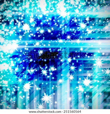 abstract background, blurred tender strips and stars - stock photo