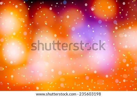 abstract background bokeh christmas lights - stock photo
