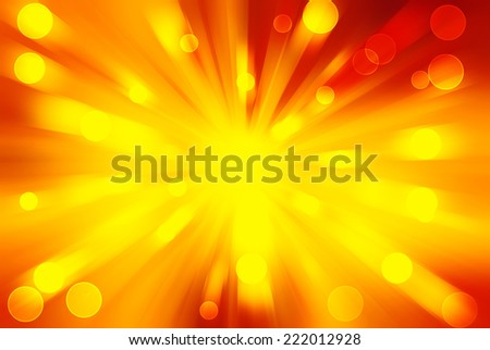Abstract background - bright lights in darkness, bright orange lights - stock photo