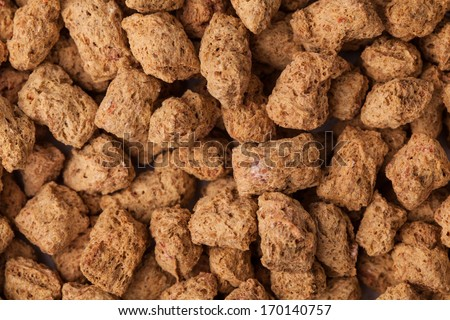 Abstract background - chocolate cereal balls (closeup)