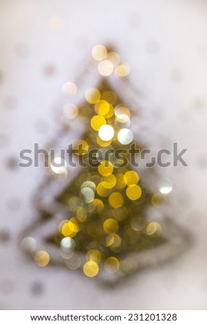 Abstract background. Christmas tree - stock photo