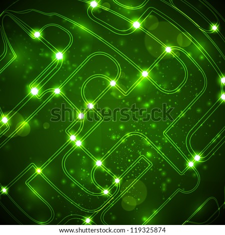 Abstract background, circuit board form of ball, technology illustration