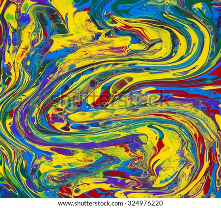 abstract background color paint mixed flows - stock photo