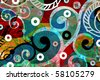 abstract background, color painted graffiti - stock vector