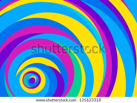 abstract background color stripes circle blue (Raster copy of vector) - stock photo