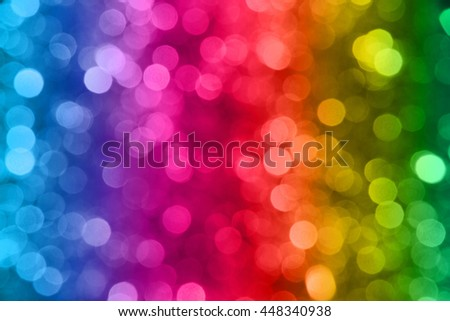 abstract background colorful rainbow bokeh circles blurred