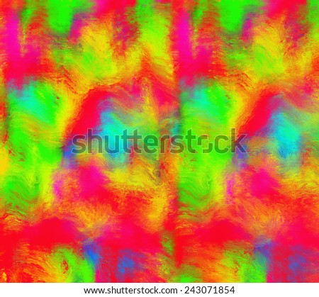 Abstract background, colorful wet paint with blur effect. Modern digital art.