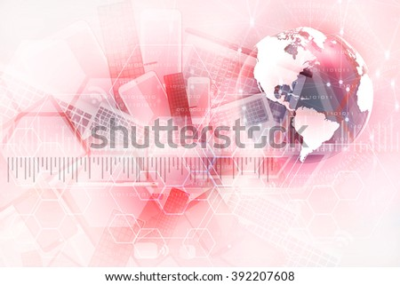 Abstract background, concept of racing technology.