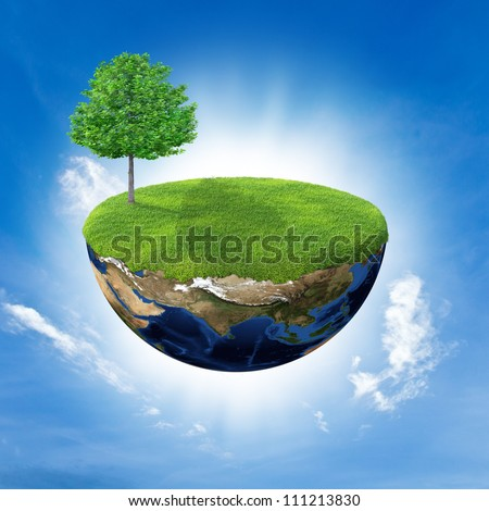 Abstract background, concept of world , Elements of this image furnished by NASA - stock photo