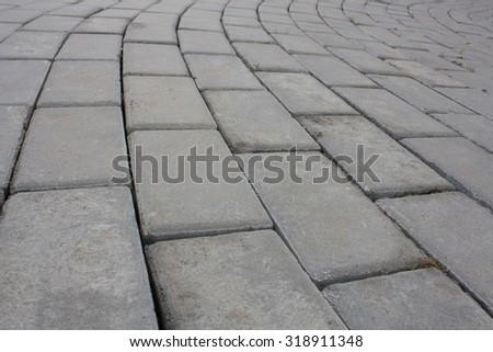 Abstract background - concrete garden blocks floor - stock photo