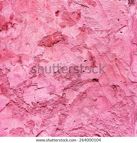 Abstract background concrete painted pink paint, weathered with cracks and scratches. Landscape style. Grungy Concrete Surface. Great background or texture - stock photo