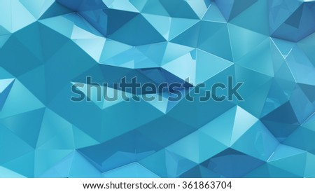 abstract background consisting of blue geometric shapes
