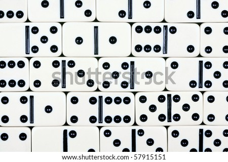 Abstract background consisting of dominoes fragments