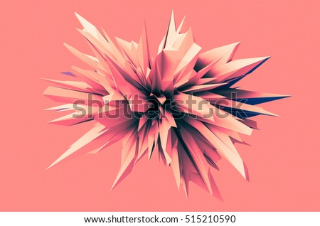 abstract background 3d illustration with interesting spiky shapes