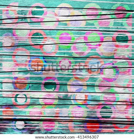 abstract background design on wood grain texture
