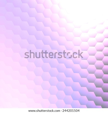 Abstract Background Design Template or Wallpaper - Copy Space on White - Business Presentation - Geometrical Bright Shiny Hexagons - Energy Concept - Blue Digital Backdrop - Simple Mathematical - stock photo