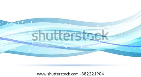 Abstract background design.Waves with circles