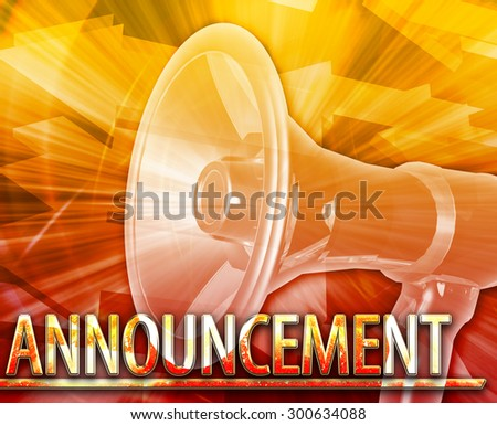 Abstract background digital collage concept illustration News Announcement - stock photo