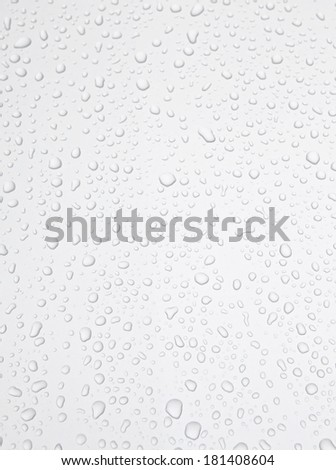 Abstract background. Drops of water on the silver material. - stock photo
