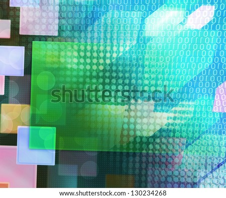Abstract Background Engineering Texture - stock photo